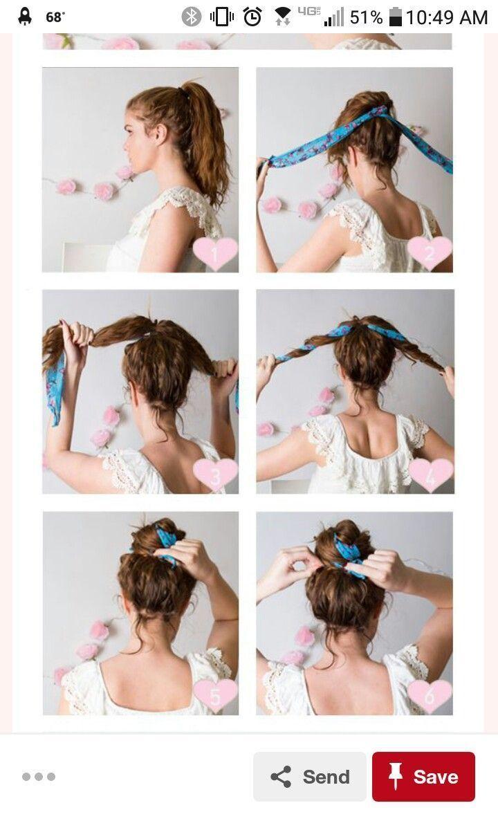 Hair Towel Bun – #bandana #Bun #Hair #Scarf – Hairstyle Women / Pinterest
