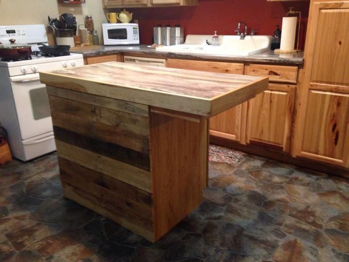 reclaimed pallet kitchen island table. Interior Design Ideas. Home Design Ideas