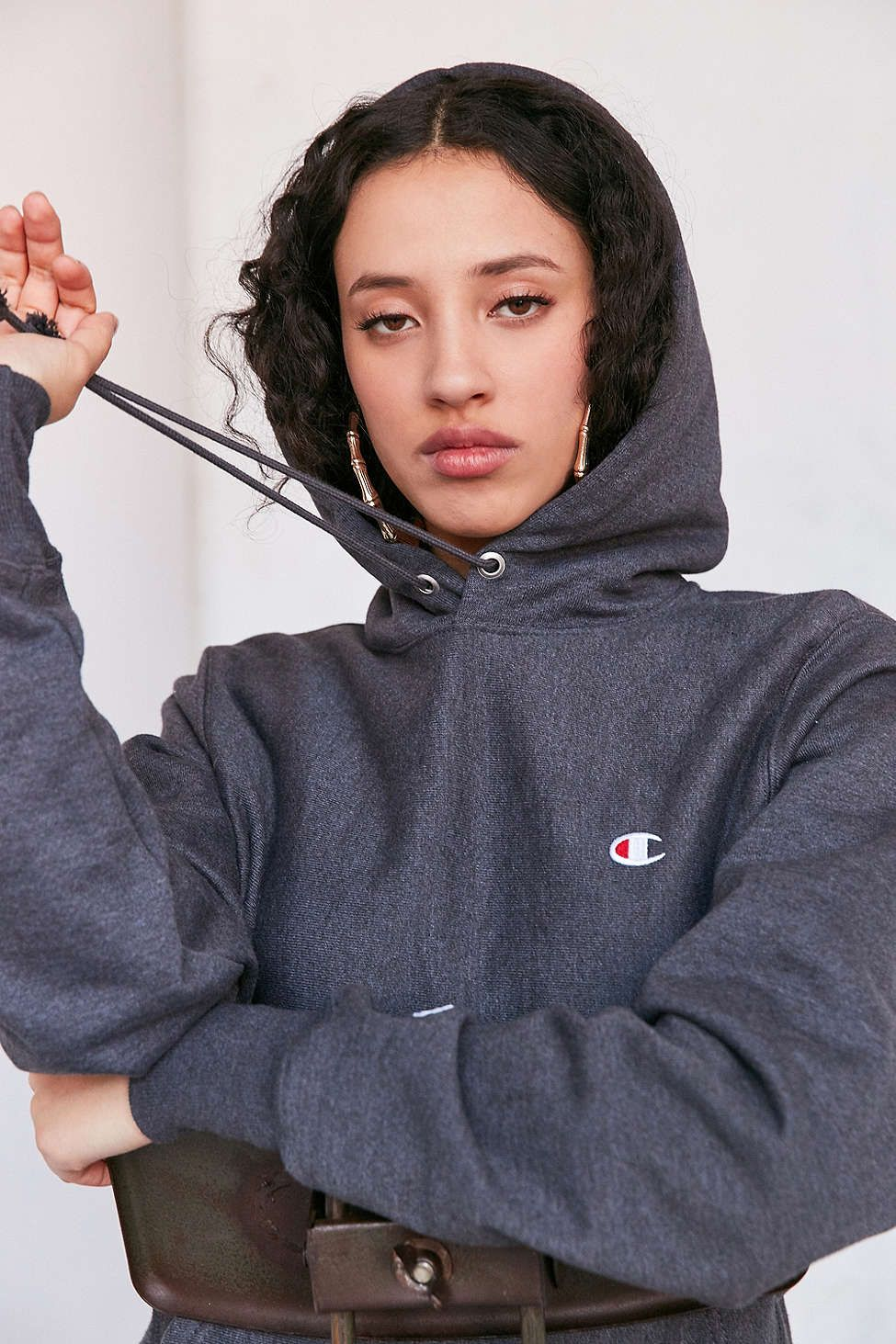 51d3918846 Champion + UO Reverse Patch Hoodie Sweatshirt - Urban Outfitters ...