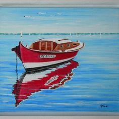 la pinasse rouge bateau mythique du bassin d 39 arcachon plage pinterest. Black Bedroom Furniture Sets. Home Design Ideas