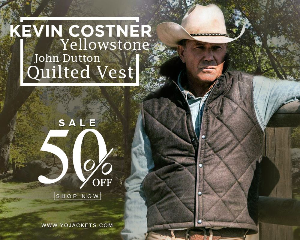 Kevin Costner Yellowstone John Dutton Quilted Vest Celebrity Leather Jackets Store Quilted Vest Celebrities Leather Jacket Trendy Outerwear [ 800 x 1000 Pixel ]