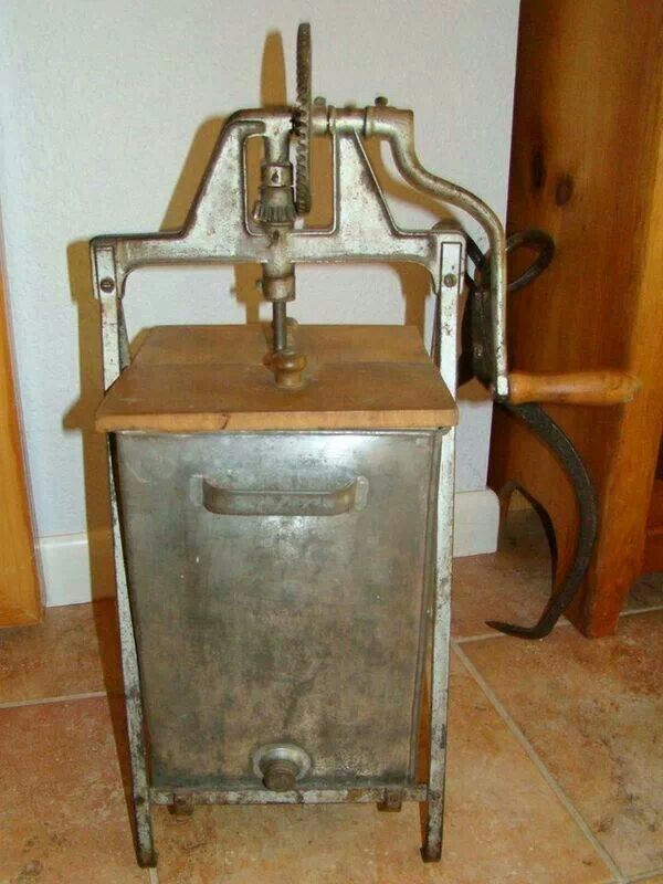 Old butter churn!