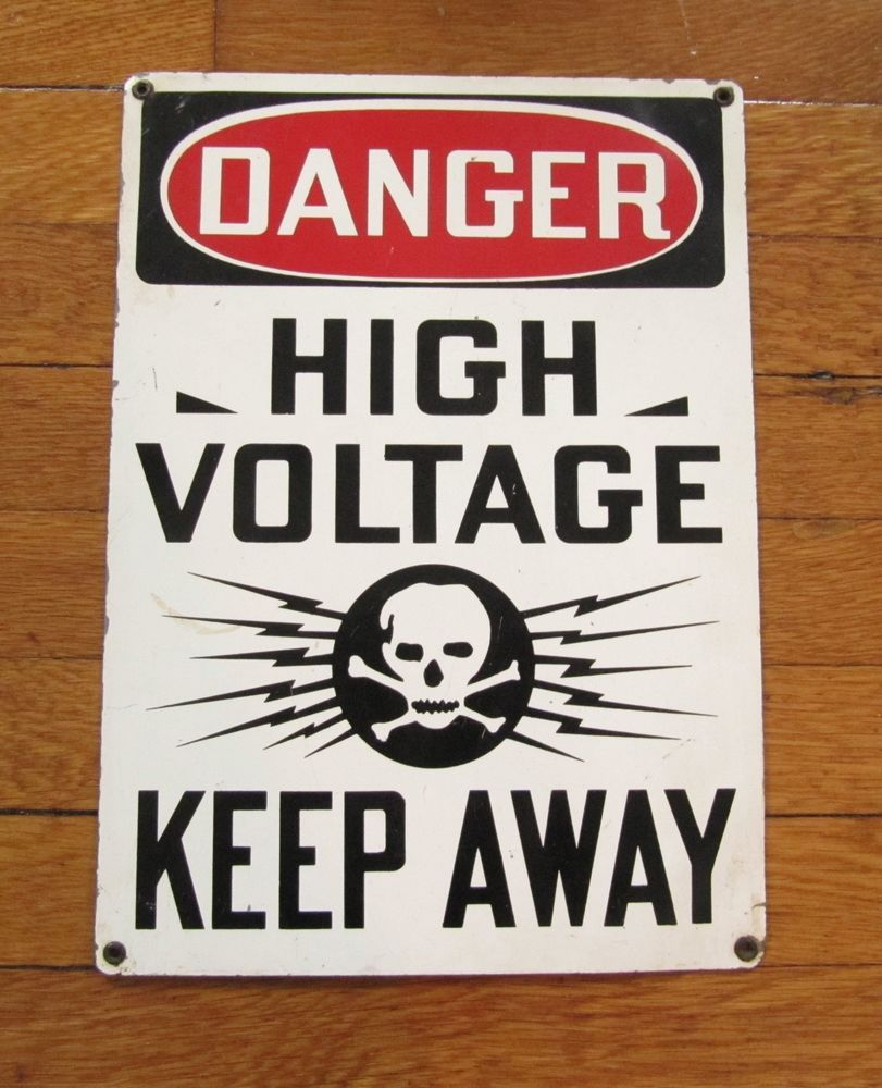 Vintage danger high voltage keep away skull cross bones steel sign vintage danger high voltage keep away skull cross bones steel sign antique buycottarizona Images