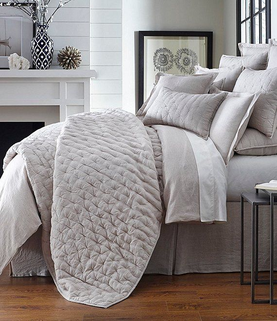 Southern Living Heirloom Linen Quilt Coverlet Bedding