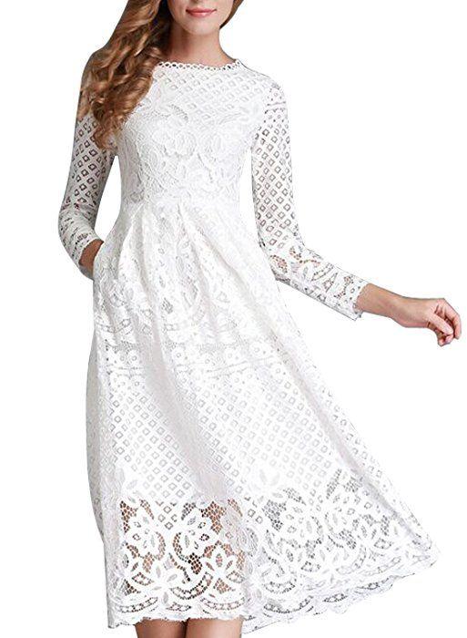 f329abedbb6d06 Kleid weiss spitze. Kleid mit Spitze weiß. 2019-02-24