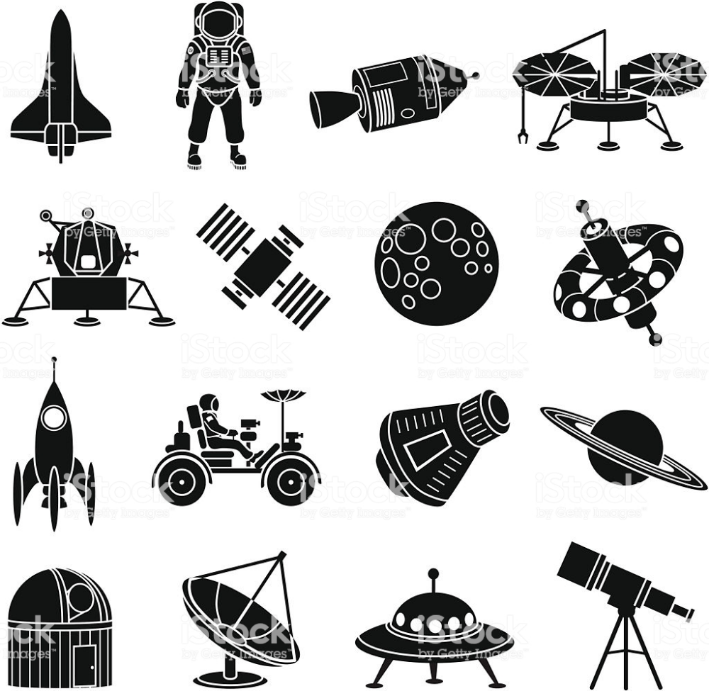 Space Exploration Icons Stock Illustration Download