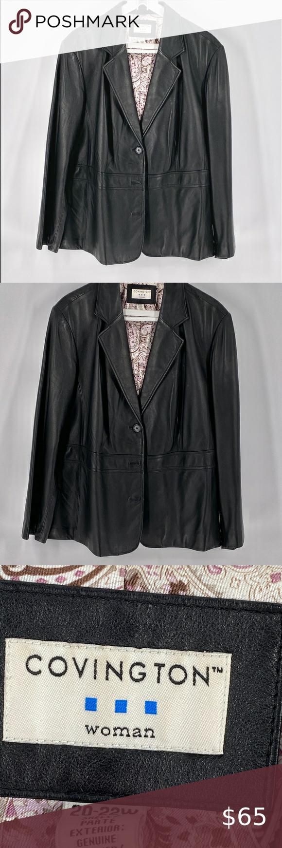 Covington Black Leather Jacket 20w 22w Black Leather Jacket Leather Jacket Black Leather [ 1740 x 580 Pixel ]
