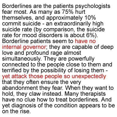 Bpd  Love me and I will kill you, slowly, with my love and madness