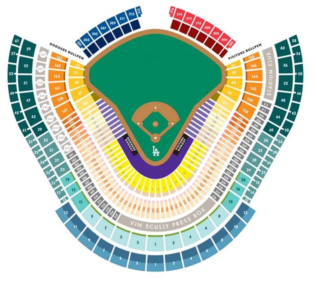 Dodger Stadium Detailed Seating Chart