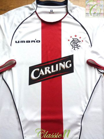 a7a4634255d Relive Glasgow Rangers' 2005/2006 season with this vintage Umbro away football  shirt.