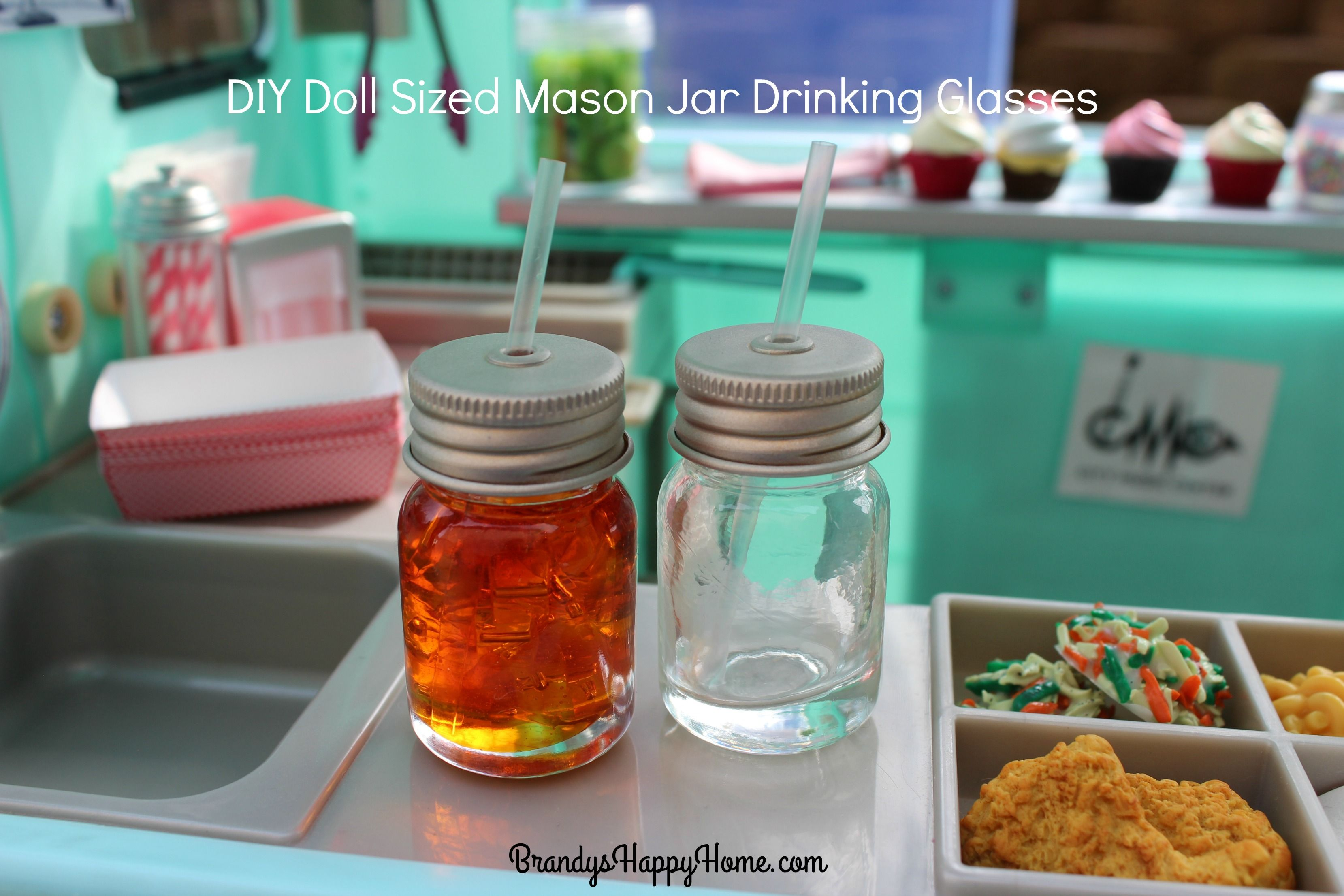 DIY Doll Mason Jar Ice Tea #americangirldollcrafts
