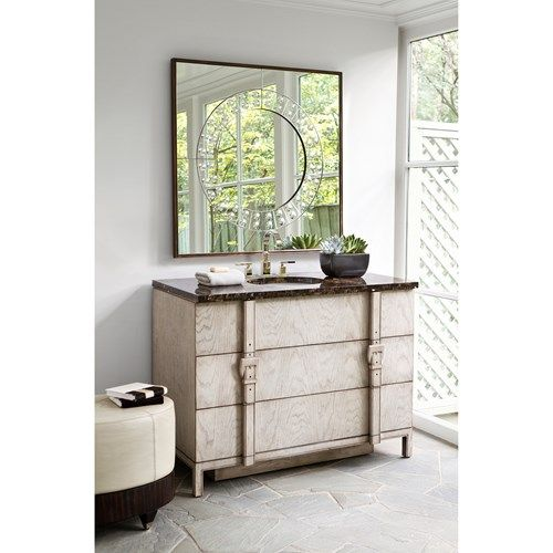 Charming BELTED SINK CHEST   Ambella Home #Sinkchests #Bathroom #Vanity