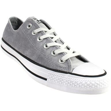 118c9ed828ff40 Converse Chuck Taylor All Star Ox Velvet - Womens Wolf Grey White White Rogan s  Shoes