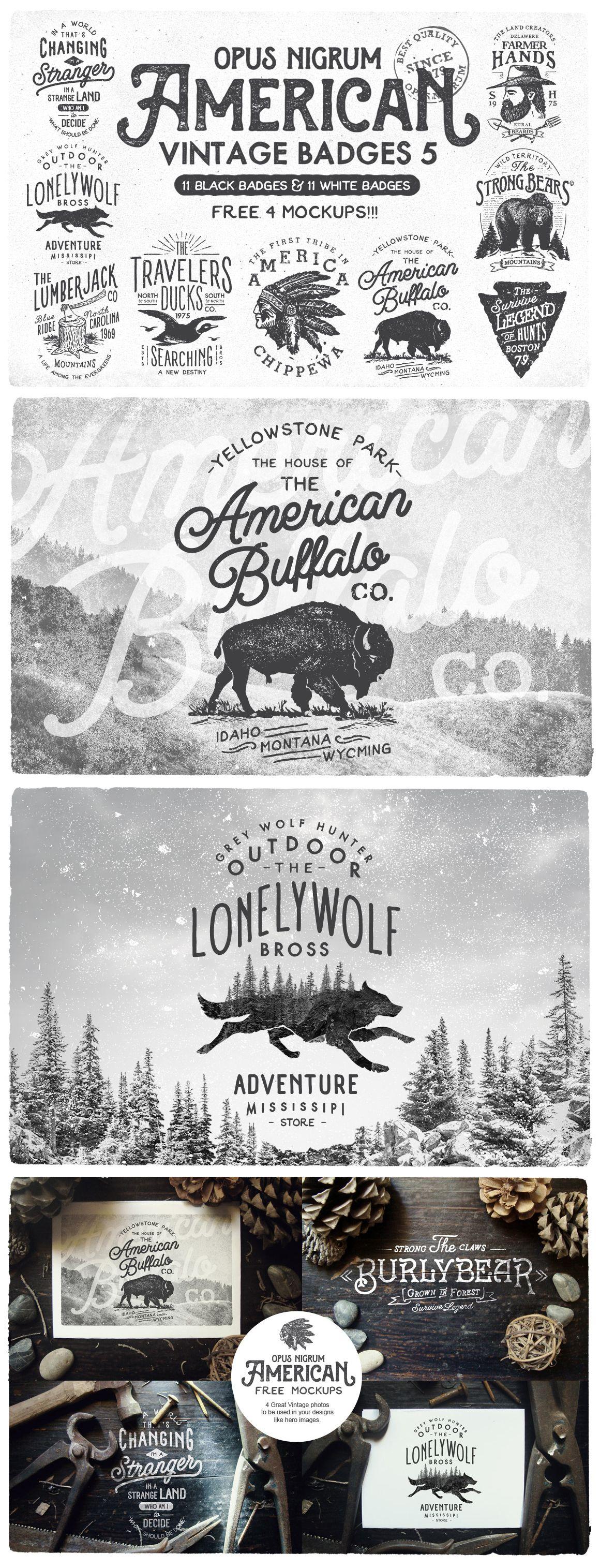 American Vintage Badges 5 by OpusNigrum