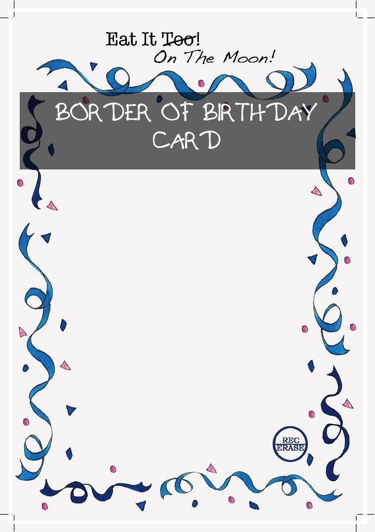 6 topmost Border Of Birthday Card in 6  Birthday cards