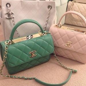 4d5f785ef73c Chanel Mint Green Light Pink Trendy CC Dual Handle Small Flap Bags   Chanelhandbags