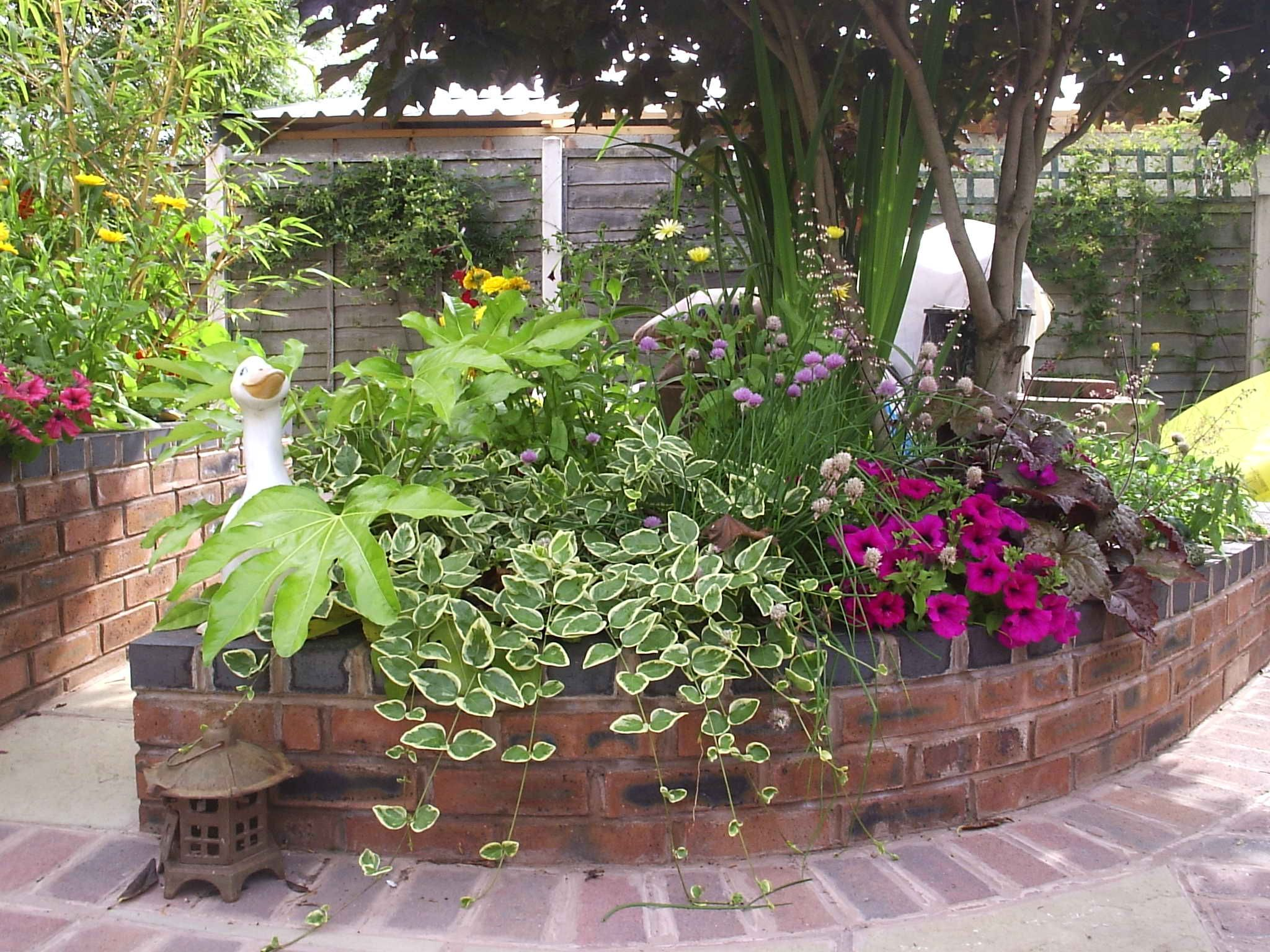 Spiral Brick Raised Ve able Beds raised tudor brick flower beds