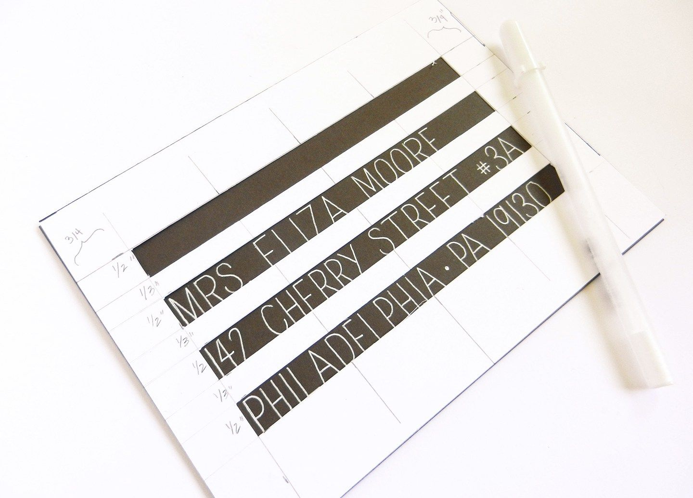 Diy Envelope Stencil For Perfect Spacing