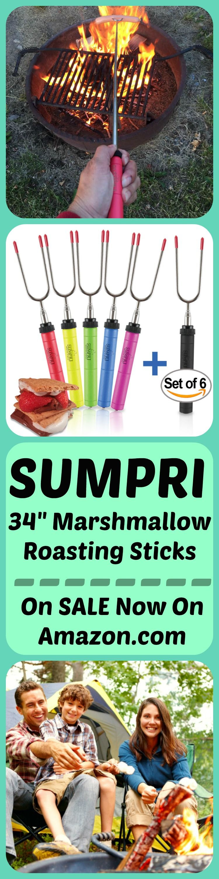 SUMPRI - Making S'mores with Marshmallow Roasting Sticks #marshmallowsticks