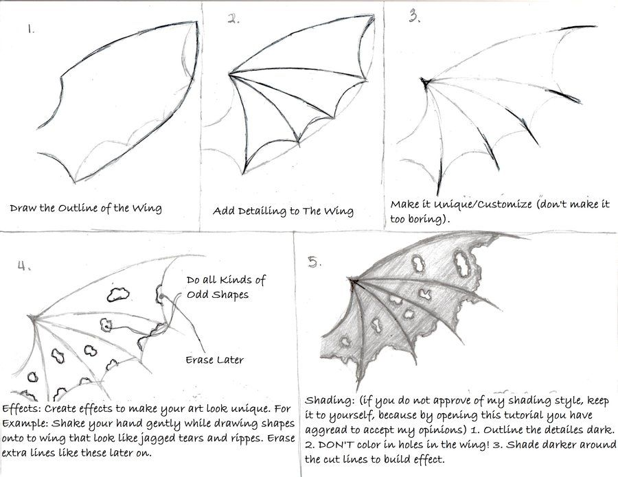 how to draw demon wings - Google Search | Art in 2019 ...