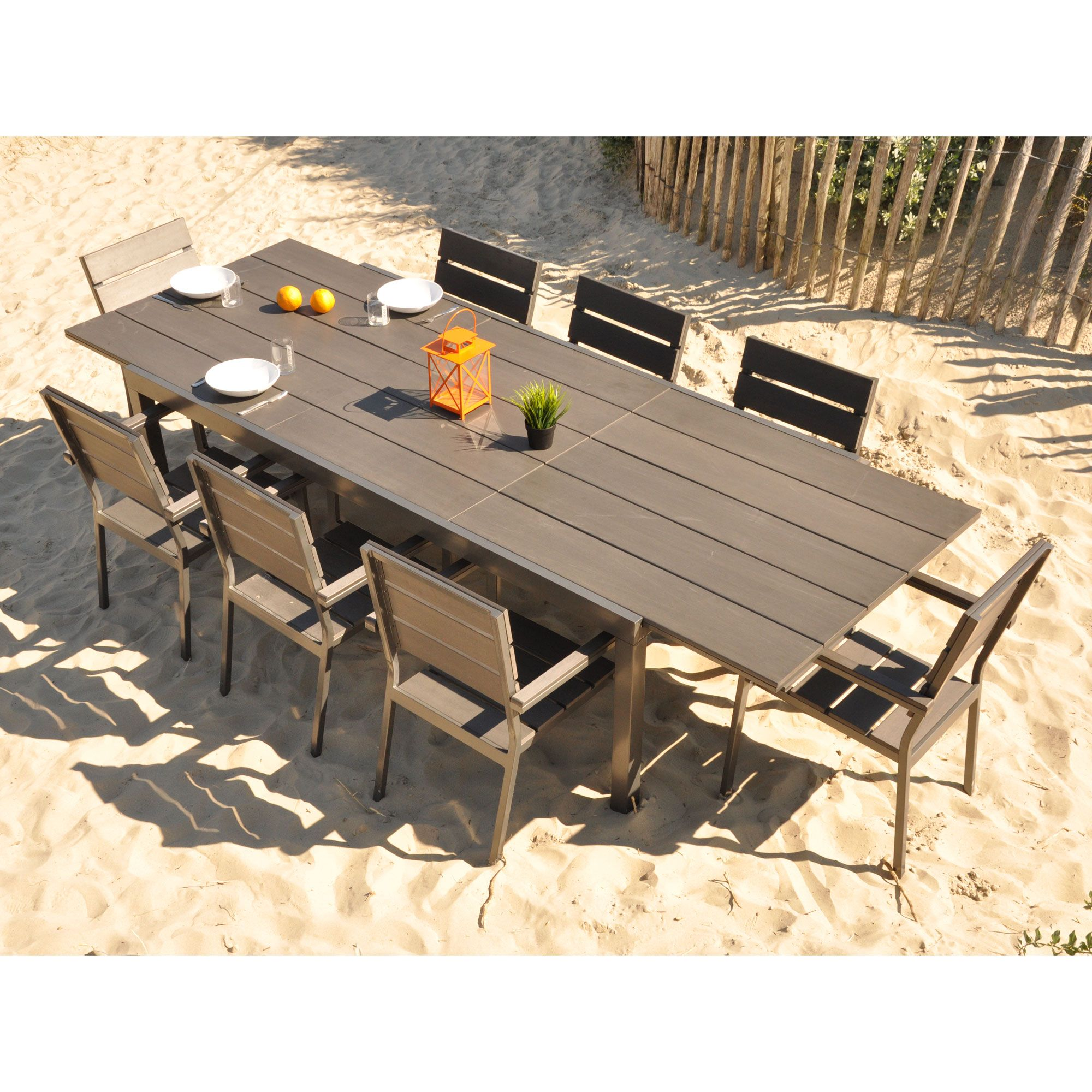 Salon De Jardin Alu Composite | Salon De Jardin En Aluminium Pas ...