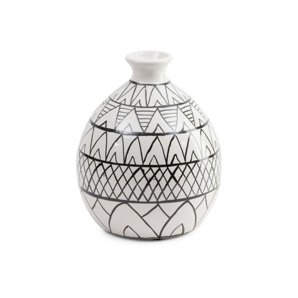 Tribal Ceramic Vase 20 Liked On Polyvore Featuring Home Home
