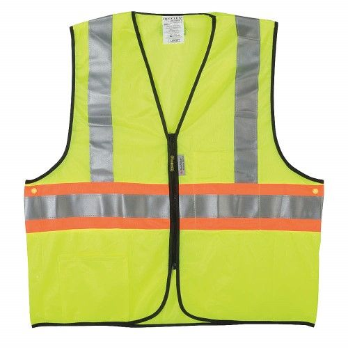 Occunomix High Visibility Vest, Class 2,2XL, Yellow LUX-SSG2TZ-Y2X
