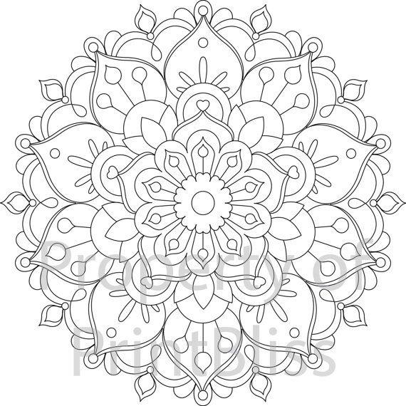 26 Flower Mandala Printable Coloring Page Mandala Printable