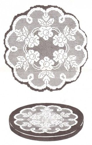 Filet Crochet Rose Doily Pattern Modele Filet Pinterest Filet