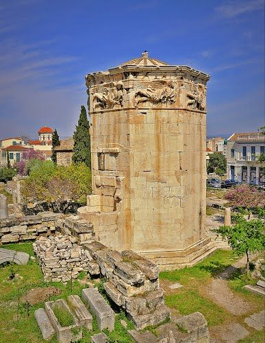Tower Of The Winds Torre De Los Vientos Atenas Grecia Foto