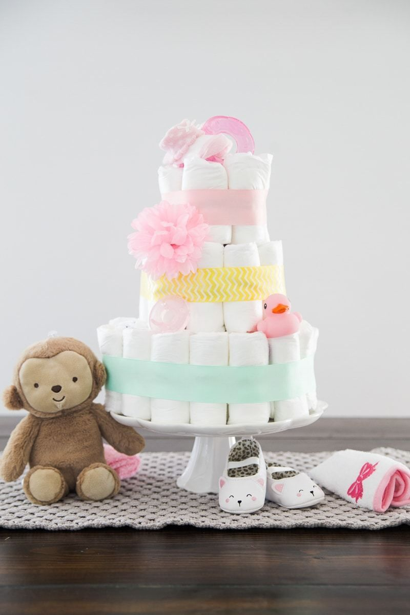 How To Make A Diaper Cake In Three Ridiculously Easy Steps Diy