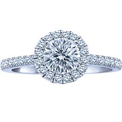 Ben Moss Jewellers Carat Blossom Cut™ Canadian Centre Diamond, White Gold Engagement  Ring love love