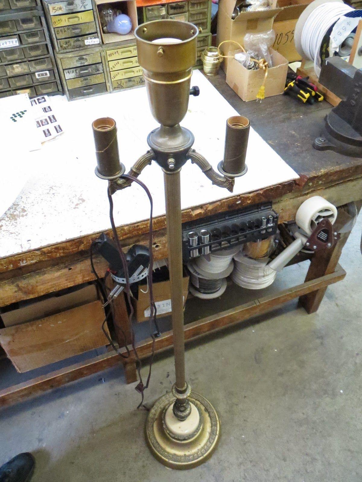 Lamp Parts and Repair | Lamp Doctor: Broken Antique Brass Floor Lamp ...