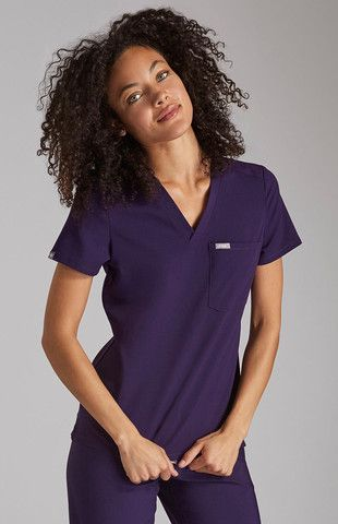 008de19614a Women's Catarina One-Pocket Scrub Top-Purple - FIGS | Through our threads  for threads™ initiative, for every set of scrubs sold, FIGS gives a set to  a ...