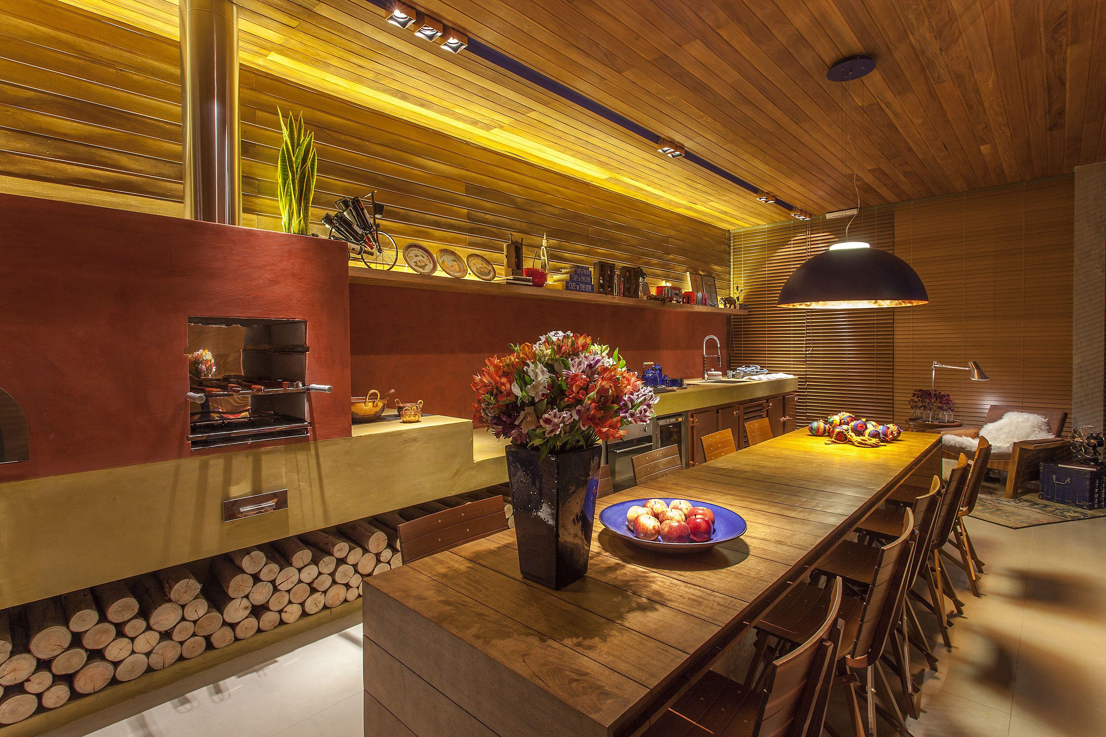 Varanda Gourmet Casa Com Fog O A Lenha Pesquisa Google Decor  ~ Fogao A Lenha Cozinha Moderna