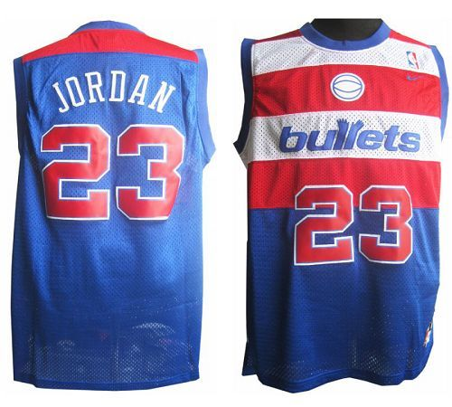5bca026c906 Wizards  23 Michael Jordan Blue Nike Throwback Stitched NBA Jersey ...