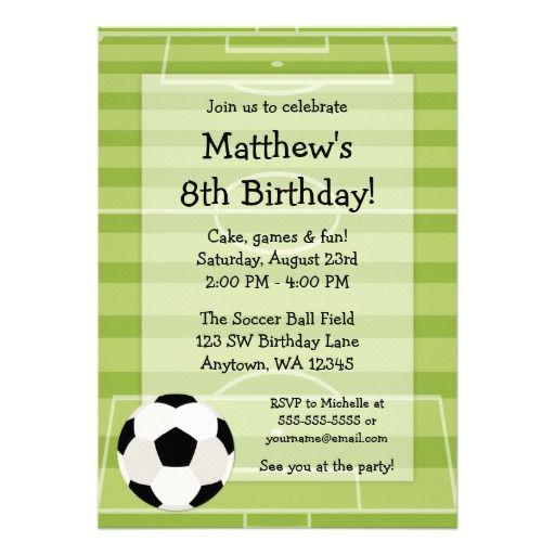 fußball-ball-feld-kindergeburtstag-party karte | junge mädchen, Einladung