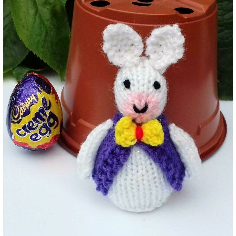 bunny Chocolate Cream egg chick and Easter basket KNITTING PATTERN