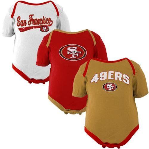 Amazon.com  NFL San Francisco 49ers Infant 3-Piece Creeper Set - Scarlet 7507c602b