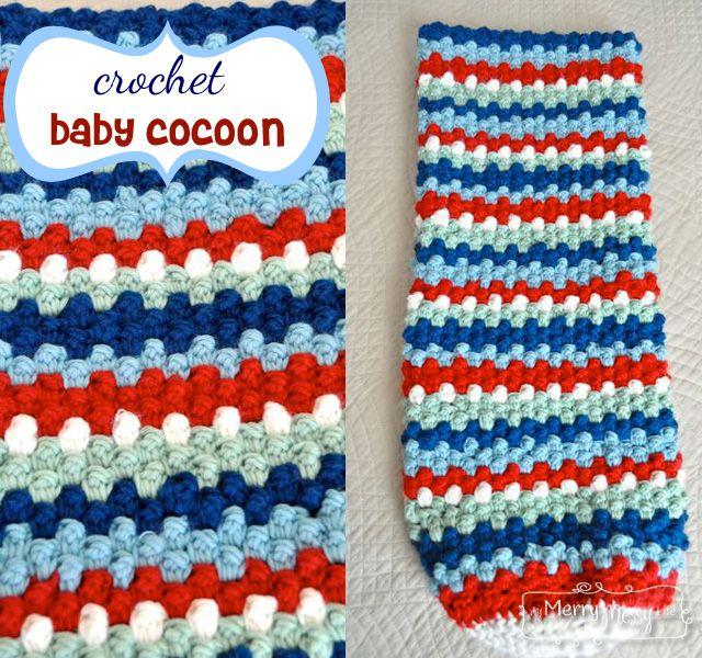 Crochet Baby Cocoon Free Pattern - Raspberry Stitch | Hilo, Lana y ...