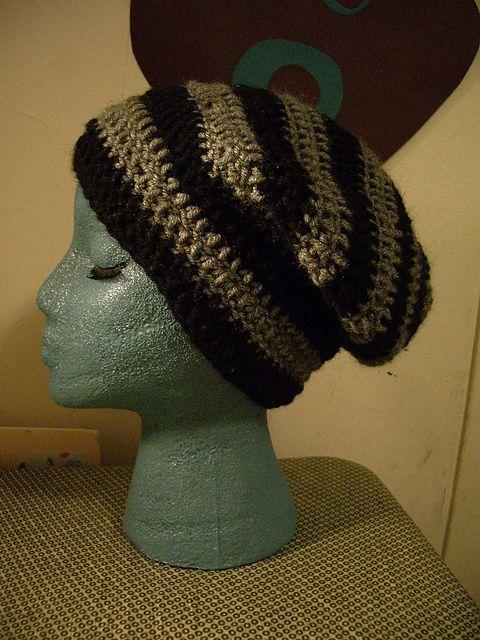 Ravelry Striped Slouchy Beanie Pattern By Codi Booher Crochet