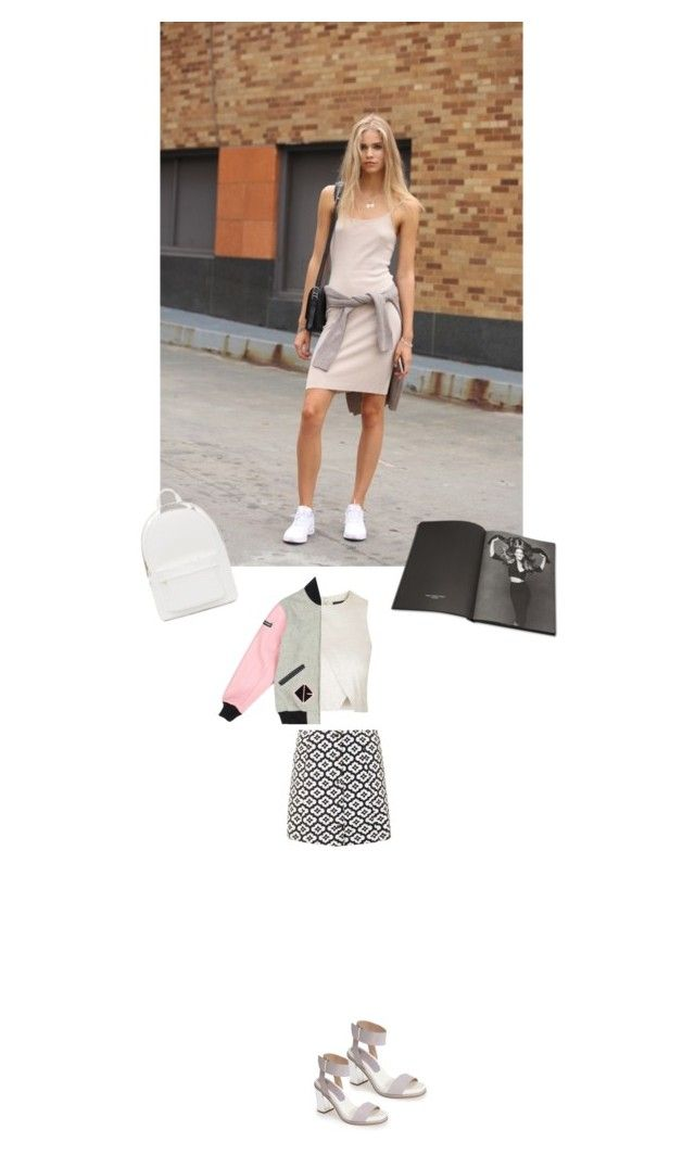 """""""Dress Like: Model"""" by olesyabond ❤ liked on Polyvore featuring Topshop, Opening Ceremony, Thames & Hudson and PB 0110"""