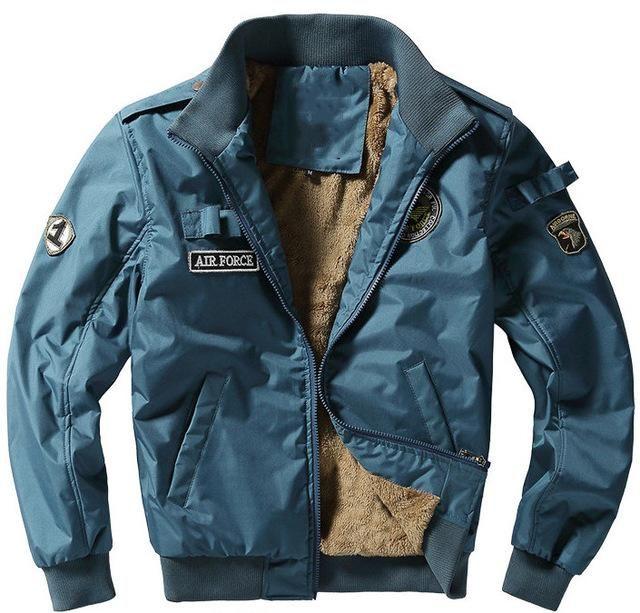 dff9cd74f Mens Cotton Heavy Duty Fleece Lined Bomber Jacket - 6 colours ...