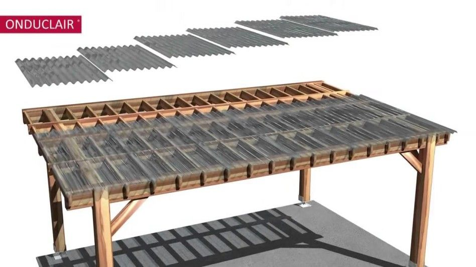 Furniture, : Wonderful Material For Home Exterior And Garden Decoration  Using Clear Corrugated Roof Panels