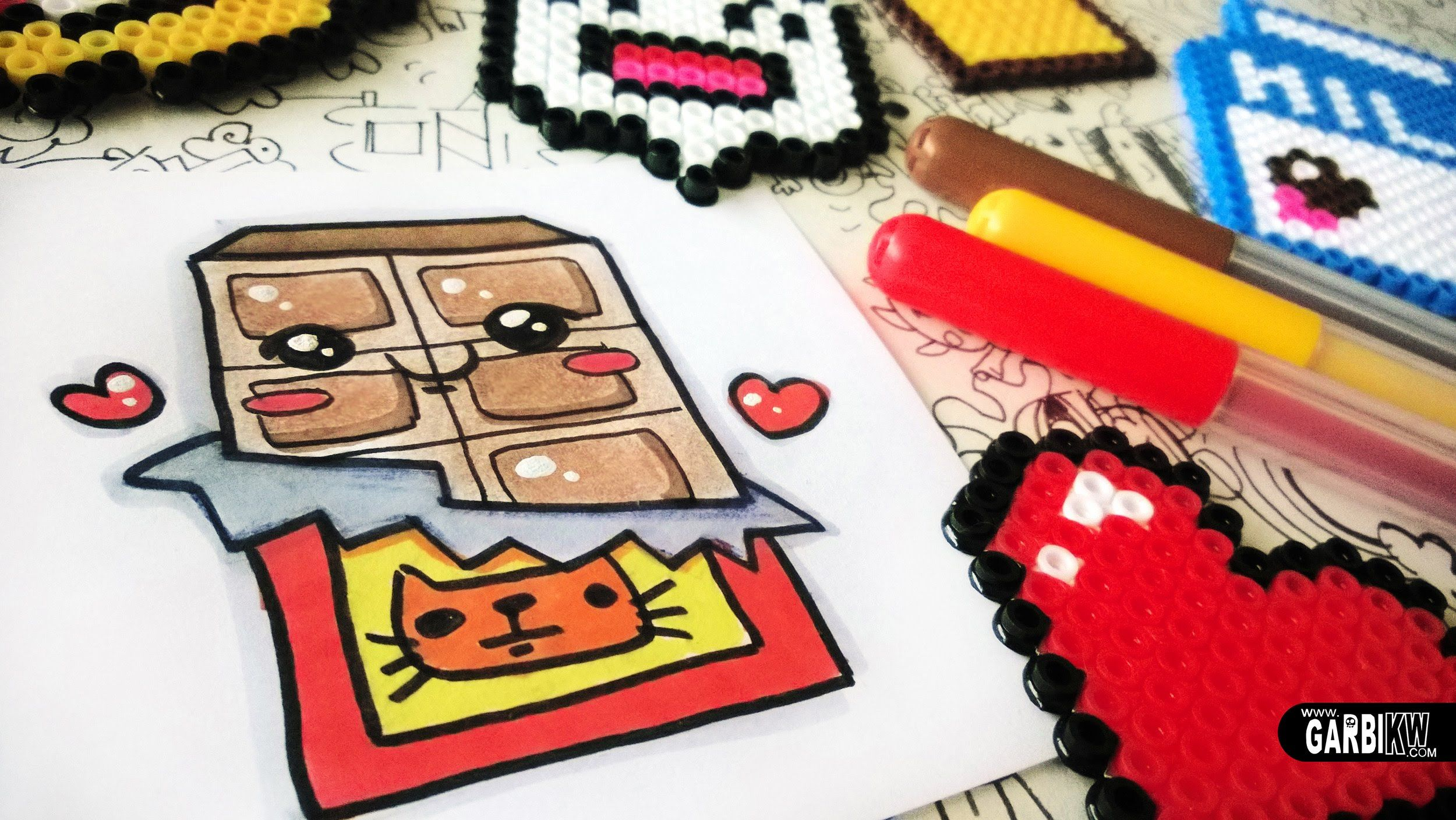 how to draw cute chocolate easy and kawaii drawings by garbi kw