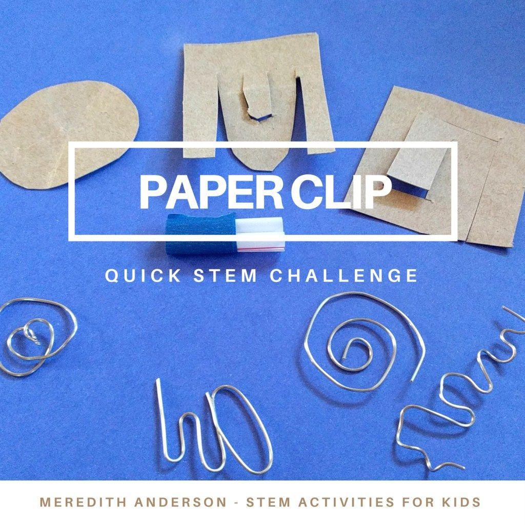 Quick Stem Challenge For Kids: Quick STEM Challenge For Kids
