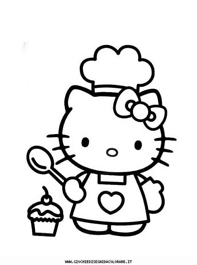 Hello Kitty 10 Disegni Da Colorare Gratis Coloring Pages