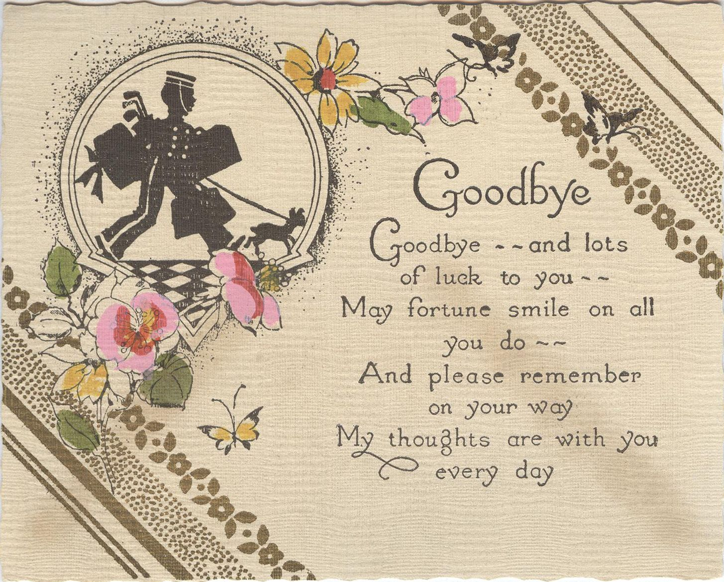 10 m 63 goodbye card hallmark when you care enough for Farewell scrapbook template