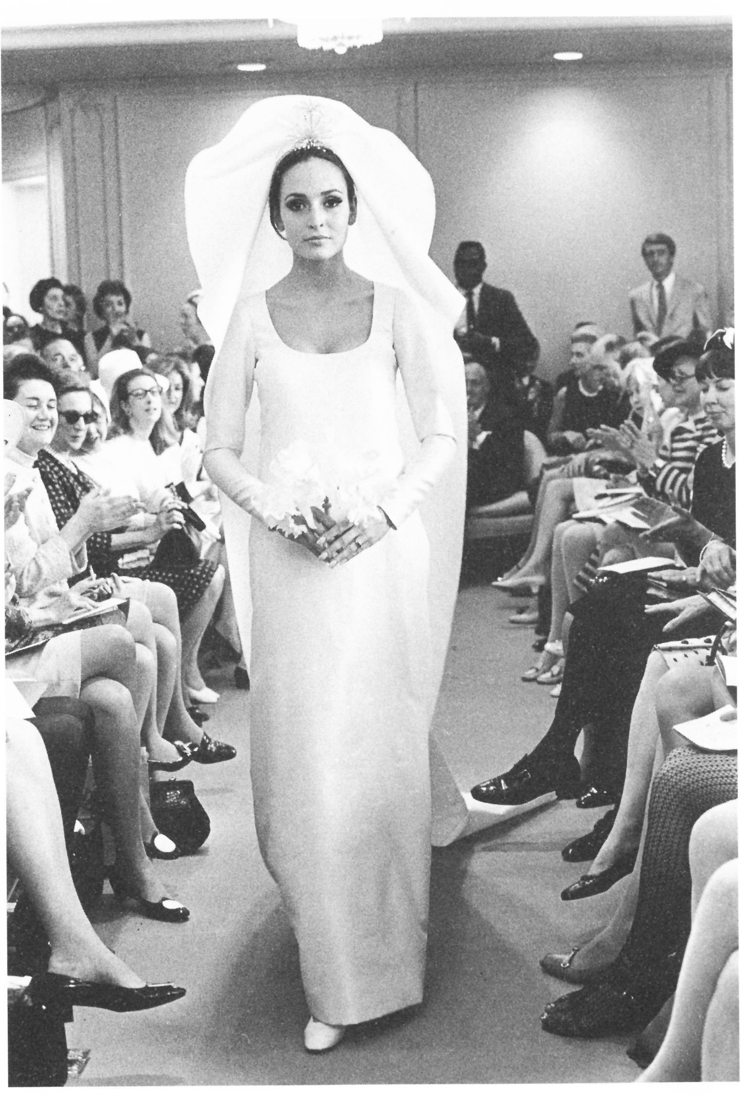 halston A wedding dress from Halston\'s premiere collection ...