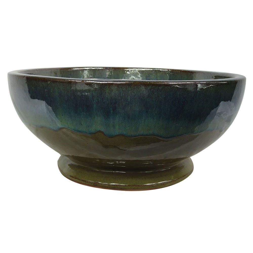 Trendspot 12 In Dia Caspian Multi Color Ceramic Bowl Planter Cr10775 12c The Home Depot Planters Ceramic Bowls Ceramics